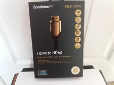 Sandstrom S1HDM315 HDMI Cable con Ethernet - 1M Gold Series 4K