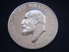 """MDS LIECHTENSTEIN PP MEDAILLE 1972 """"JOHANN II. FÜRST VON LIECHTENSTEIN"""", SILBER"""