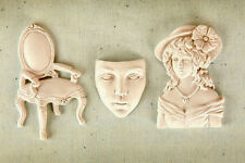 Handmade Silicone Mold /Cake Decoration Mould/chair face lady girl mold