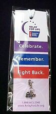 Relay for Life Bookmark with Hope Charm Cancer Awareness Walks ACS New