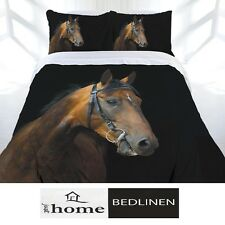 Horse Duvet | Doona Quilt Cover Set | Double | Dark Rider