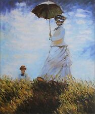 Hand Painted Oil Painting Repro Claude Monet Woman with Parasol 20x24in