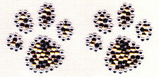 LEOPARD PAW PRINTS (2 PC) - TRIMS - ACCENTS  - IRON ON RHINESTONE-STUD TRANSFER