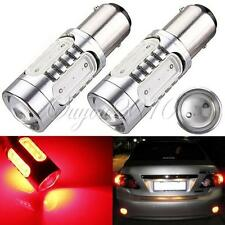 2x 1157 BAY15d 7.5W COB SMD LED Car Brake Stop Light Bulb Lamp RED DC 12V