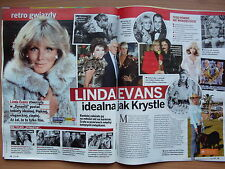 LINDA EVANS / DYNASTY in Polish Magazine KROPKA TV 39/2015 in.Kalina Jedrusik