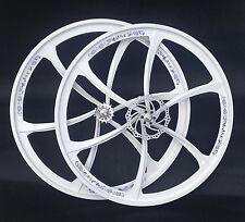 700C Nuovo di zecca in lega di magnesio ruote fisse coppia con ANTERIORE 160MM Disc 6 SPOKE