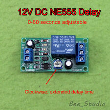 0-60 Second Delay Time Switch 1 Min Adjustable DC12v NE555 Timer Relay Module