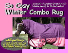 COMFORT I SO COSY I FREE POST I W'PROOF 1680D PADDOCK HORSE COMBO RUG