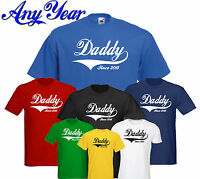 Daddy Since 2015 Father's Day New Born Baby New Funny T-shirt Present Gift S-3XL