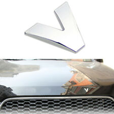 Silver ABS Chromed DIY Letter V Style Automobile decorative trim 2.5cm x 2.2cm
