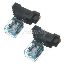 2X 220V Coil Power Relay 10A DPDT LY2NJ HH62P HHC68A-2Z With 8 Pin Socket Base