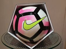 SOCCER BALL-NIKE PITCH-SIZE 4-REPLICA BALL-WHITE/PINK/BLACK IN COLOR-NEW-IN BOX-