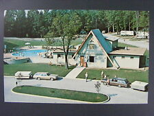 Mountain Shadows Chattanooga KOA Campground Campers Color Postcard 1970s Vintage