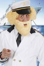 New Blonde Beard & Moustache Captains Birdseye Sailor Pirate Fancy Dress