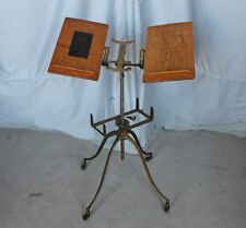 Antique Oak & Cast Iron Dictionary or Bible Stand