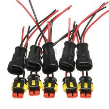 5PCS Kits 2 Pin Way Car Auto Waterproof Electrical Connector Plug Socket Wire