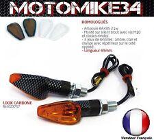 clignotants style carbon AMPOULES MOTO QUAD SCOOTER Homologué(ampoule BAX9S 21w)