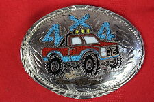 turquoise Belt Buckle 4 x 4  Pickup / Truck