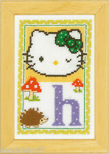 Vervaco  0149532  Alphabet © Hello Kitty - Lettre H  Kit  Point de Croix  Compté
