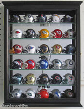 Pocket Pro Mini Helmet Display Case Wall Curio Cabinet - Black, SCD06B-BLA