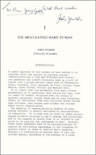JOHN YUDKIN - INSCRIBED ARTICLE SIGNED