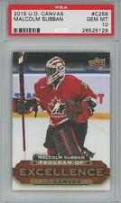 2015 Upper Deck Young Guns Canvas POE #258 Malcomb Subban RC Gem Mint PSA 10