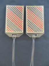 AMERICAN AIRLINES CUSTOM LUGGAGE TAGS SET OF 2 - LOGO STRIPES - NAME ADDRESS ID