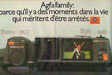 Publicité 1986  (Double page)  AGFA FAMILY la caméra AGFA GEVAERT