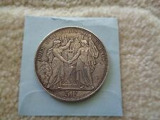 1876 Switzerland LAUSANNE 5 Francs large silver coin Shooting Thaler