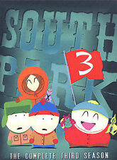 South Park - The Complete Third Season (DVD, 2003, 3-Disc Set) Free Shipping!