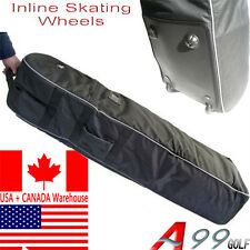 T07 Golf Bag Wheeled Travel Cover Padded Top Black