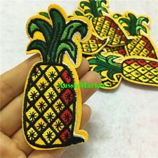 1 x patch patches pineapple fruit iron sew on embroidered material pine apple