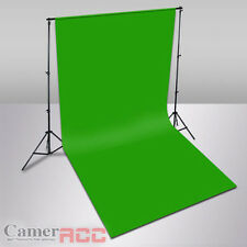 New 3x6m Chroma Key Green Cotton Muslin Backdrop 2.8x3m Background Stand Kit UK