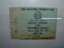 MOTHER'S FINEST 1977 Concert Ticket Stub ELECTRIC WAREHOUSE COLUMBIA SC Rare