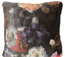 Italian Velvet Cushion Cover Floral Printed Decorative Throw Pillow Case 40x40cm