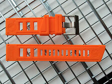 VOSTOK AMPHIBIAN DIVER WATCH STRAP BAND 22MM SILICONE ORANGE (rubber equivalent)