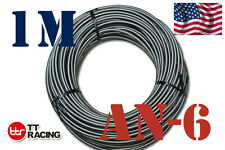 "3/8"" STAINLESS STEEL BRAIDED -6AN AN6 6-AN OIL FUEL LINE HOSE 1M Meter 3.3FT"