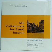 LP Trachtenkapelle Winterbach Mit Volksmusik ins Land hinaus Albert Hofele SDR