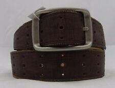 New Brighton Calfskin INLAY PERFORATED Leather Belt  Size 42  NWT  M70728