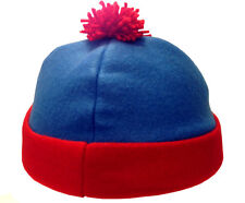 Stan Marsh South Park Costume Hat Blue Red Fleece Ski Cap Comedy Central TV New