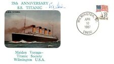 S.S. TITANIC SHIP SURVIVOR EVA HART AUTOGRAPH ON 75TH ANNIVERSARY POSTAL COVER!