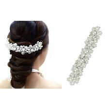 Bridal Hair Jewelry/ Hair U shape crystal bridal / pearl hair clip/tiara