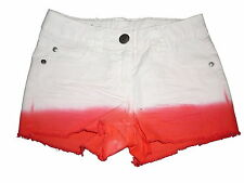 NEU Pepperts tolle Jeans Shorts Gr. 122 weiß-orange !!
