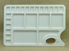 AACEE23 Well Watercolor Paint Tray Mixing Palette WhiteWith Thumb Hole