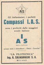 Z2115 Compassi I.A.S. La Filotecnica Ing. Salmoiraghi - Pubblicità d'epoca - Adv