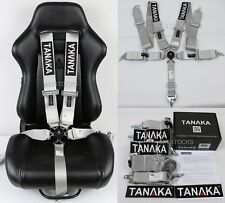 "1 TANAKA GRAY 5 POINT CAMLOCK RACING SEAT BELT HARNESS 3"" SFI 16.1 CERTIFIED"