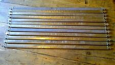 Reclaimed Antique Set 12 Edwardian Brass Trefoil Fleur De Lis Clover Stair Rods