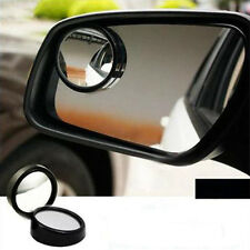 2pcs 50mm Car Blind Spot Mirror Frame Wide Angle 360°Rear Side View Black