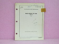 Military Manual 486533-110 Missile Auxiliary Test Stand Illustr. Parts Breakdown