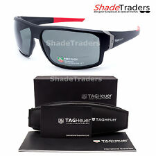 TAG Heuer RACER 2 SUNGLASSES BLACK/ RED POLARIZED GREY RACING CYCLING 9223 901